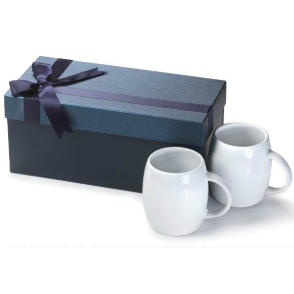 14 oz. Rotunda Ceramic Mug Medium Box Gift Set