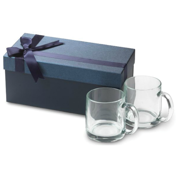 13 oz. Nordic Glass Mug Medium Box Gift Set