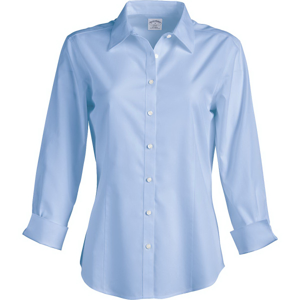 Ladies 3/4 Sleeve Fitted Dress Shirt