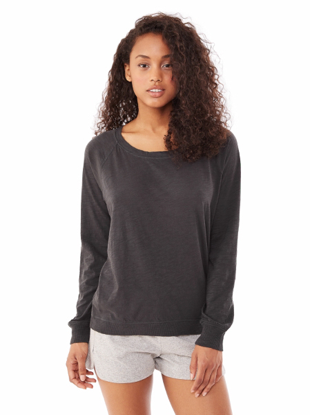 Women's Washed Slub Slouchy Pullover