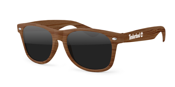 Faux Wood Retro Sunglasses