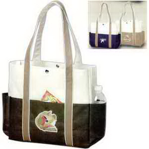 Contrast Boat Tote