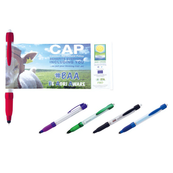 Click-Action Stylus Ballpoint with Pull-Out Banner