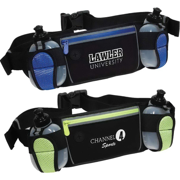 Sleek Water Resistant Sports Pack with Dual Bottle Holders