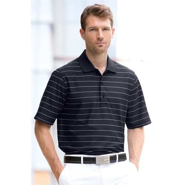 Greg Norman Play Dry(R) Performance Striped Mesh Polo