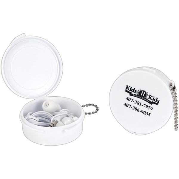 Ear Buds in a Case with a Key Chain