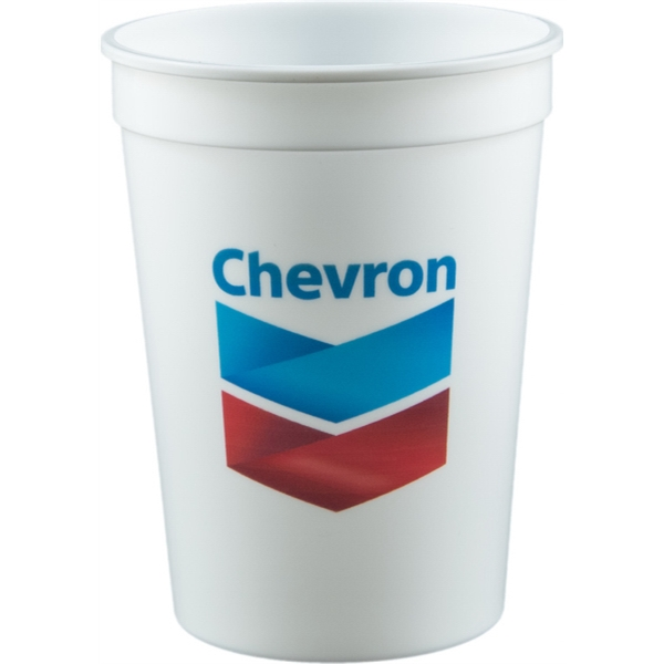 12 oz Stadium Cup - White