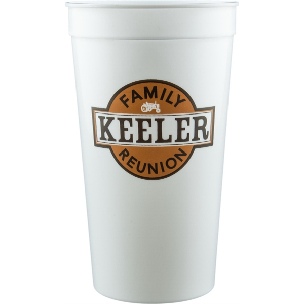 32 oz Stadium Cup - White