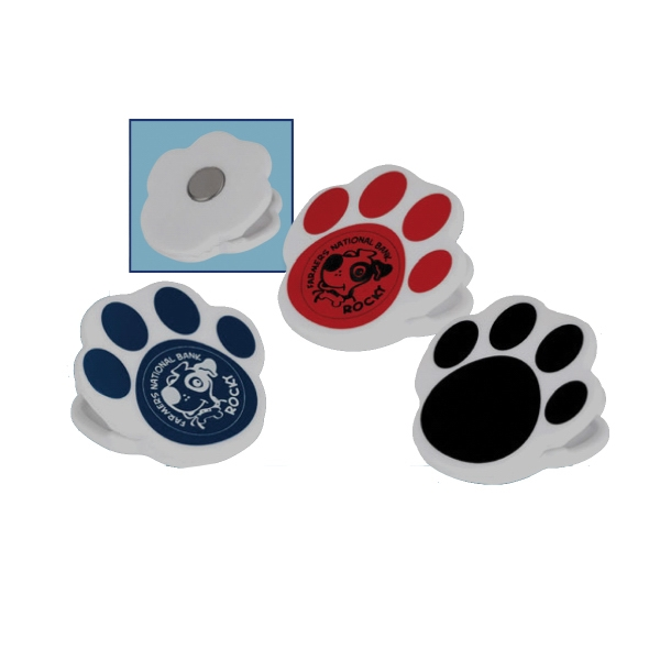 Paw Print Magnetic Clip