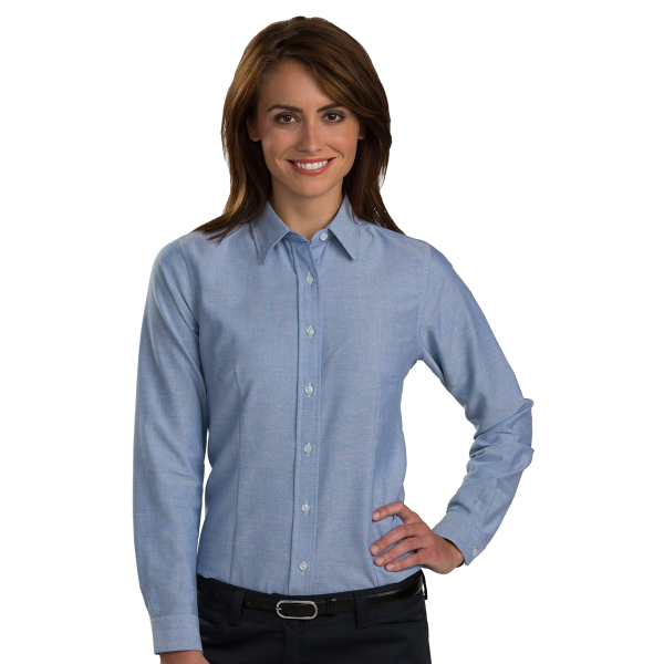 Ladies' Long Sleeve Contemporary Easy Care Oxford Shirt