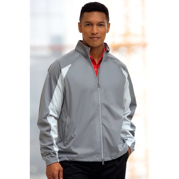 Greg Norman Full-Zip Pieced Weatherknit Jacket