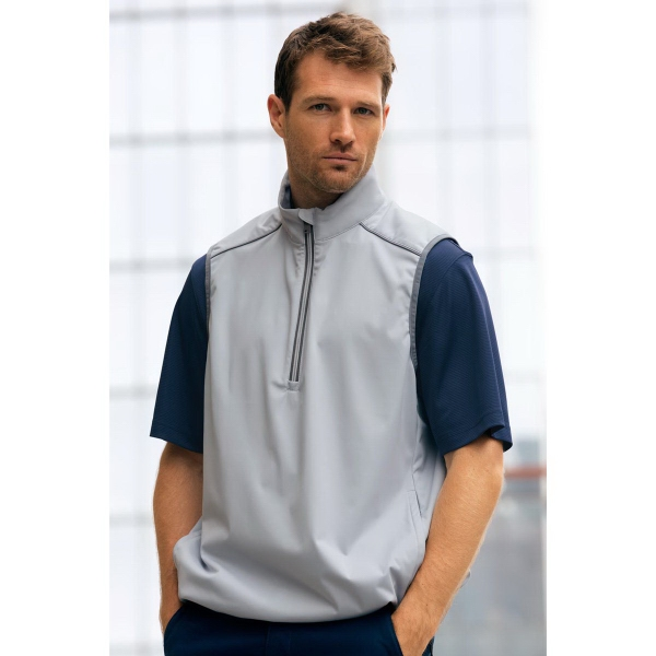 Greg Norman 1/4-Zip Weatherknit Vest