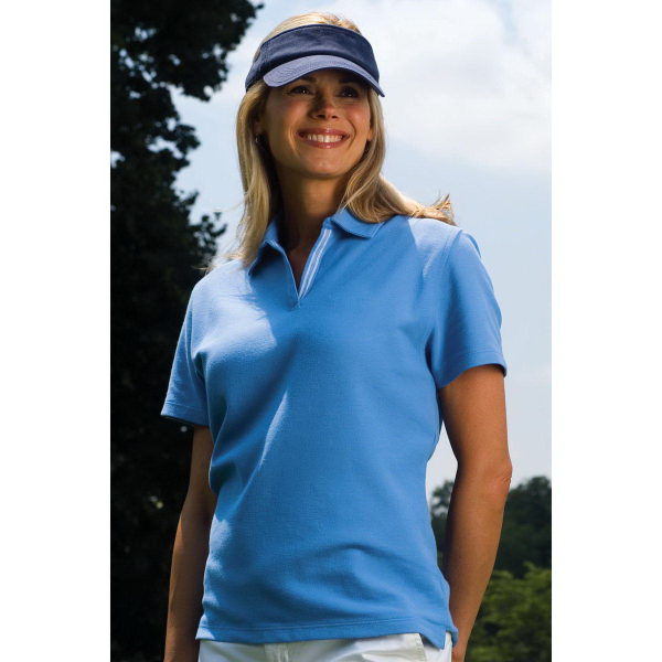 Women's Vansport (TM) Double-Tuck Pique Polo