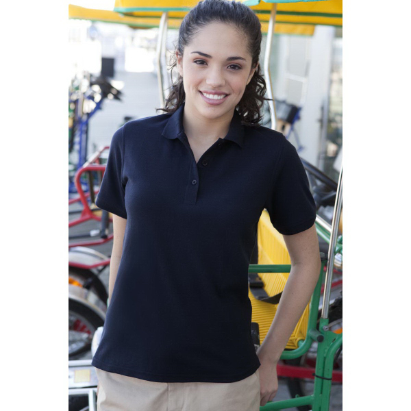 Women's Soft Blend Double-Tuck Pique Polo