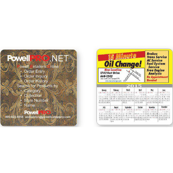 Large Square Calendar Magnet (Series 080)