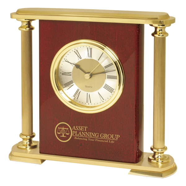 Brass Pillars Mantel Clock