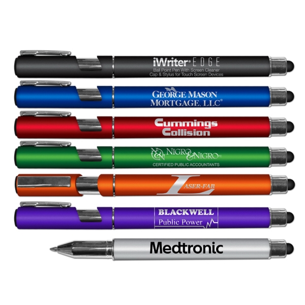 iWinter Edge Ball Point Pen With Stylus & Screen Cleaner Cap