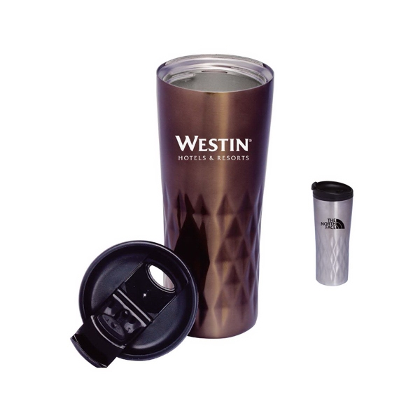 Diamante 16 oz Double-Wall Stainless Steel Tumbler