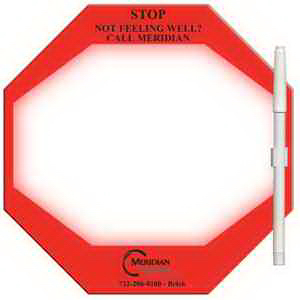 Stop Sign Erasable Memo Board