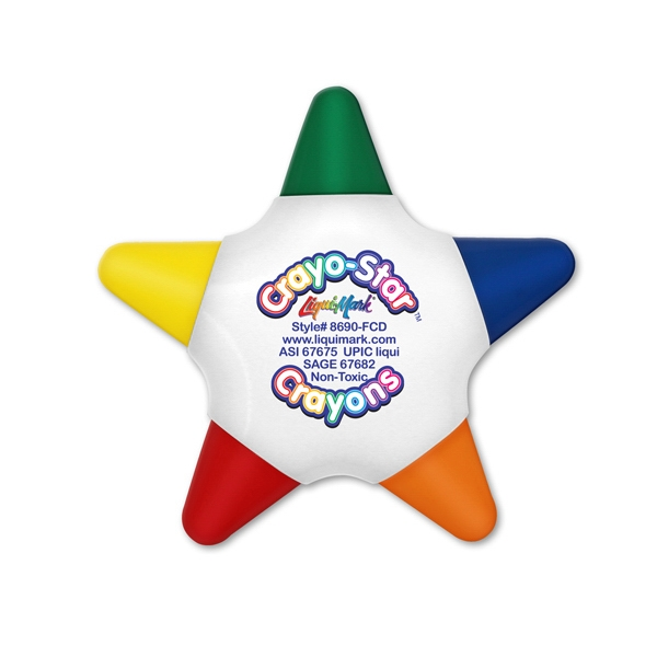 Copy of Five Color Star Crayon