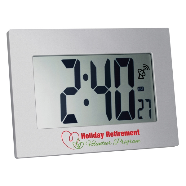 Atomic LCD Wall or Desk Clock