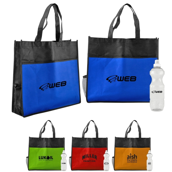 Hydrate Bottle Holder Shopping Tote
