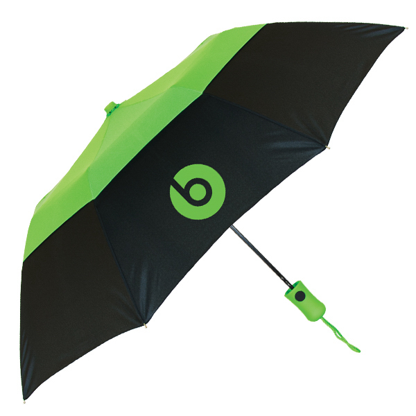 "Vented Color Crown Umbrella - 42"" arc, auto-open, windproof"