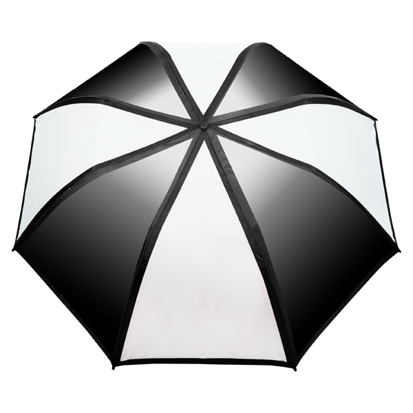 "Gradient Umbrella - 58"" arc, auto-open, folds to 22"" long"