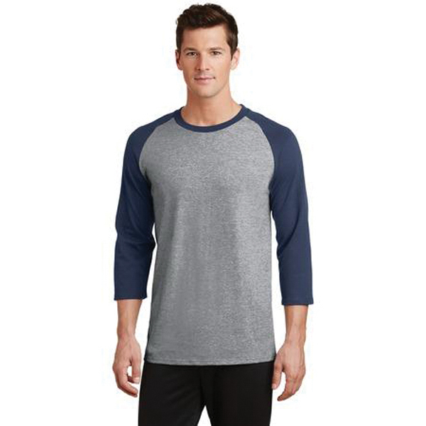 Port & Company 50/50 Cotton/Poly 3/4 Sleeve Raglan T-Shirt