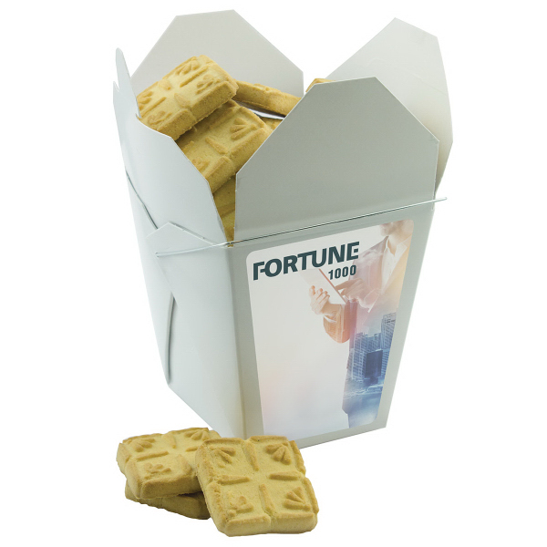Fortune Cookie Box with Short Bread Cookies