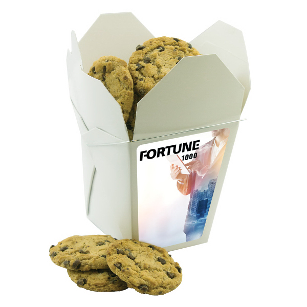 Fortune Cookie Box With Chocolate Chip Cookies