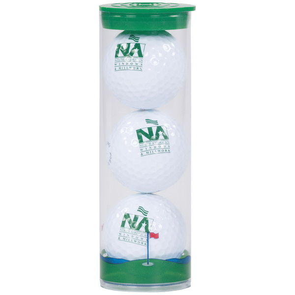 Clear Tube with 3 Callaway Warbird 2.0 Golf Balls