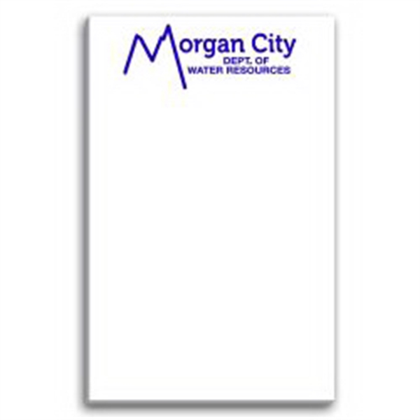 Paper Note Pad 3 1/2 x 5 1/2, 25 pages, w/ magnet