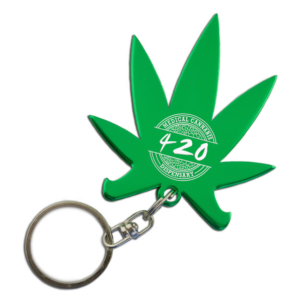 Cannabis Pot Leaf Key Chain