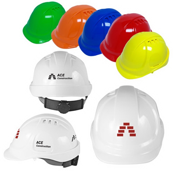 Vented Cap Style Hard Hat with 6-Point Ratchet Suspension