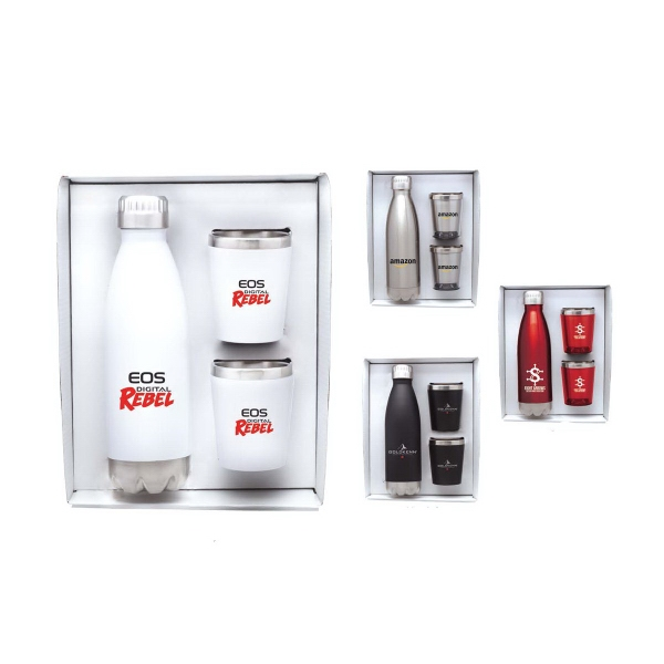 Stainless Steel Bottle and Tumblers Gift Set