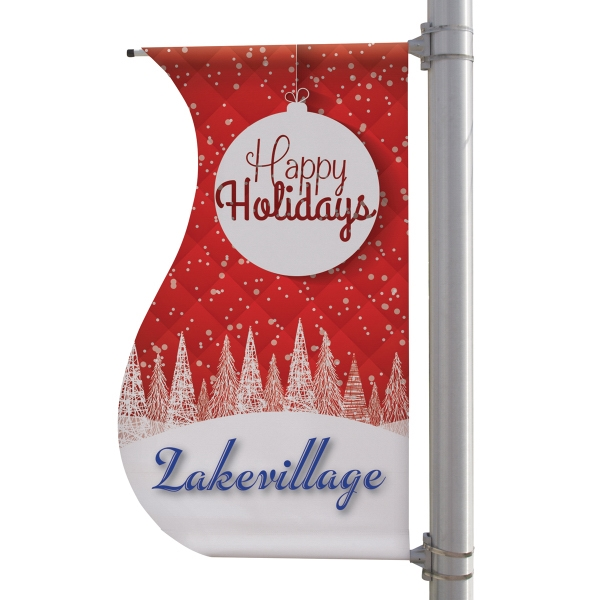 "30"" x 60"" 18 oz Opaque Material S-Shaped Boulevard Banner"