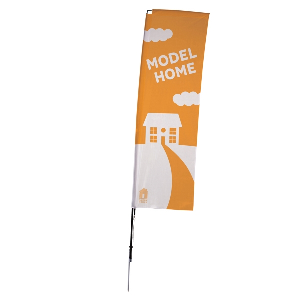 10' Streamline Rectangle Sail Sign Kit One-Sided