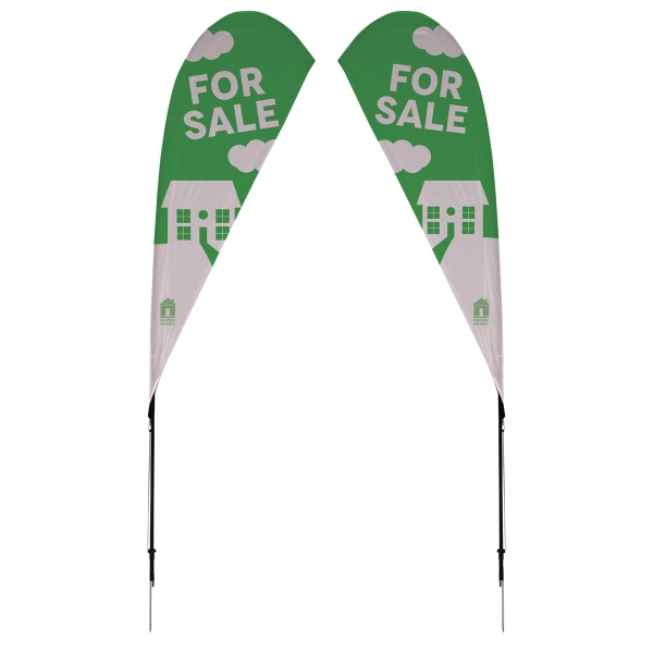 8' Streamline Tear Drop Sail Sign Kit 2-Sided