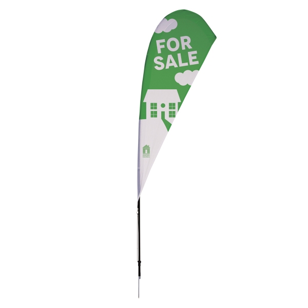8' Streamline Tear Drop Sail Sign Kit One-Sided