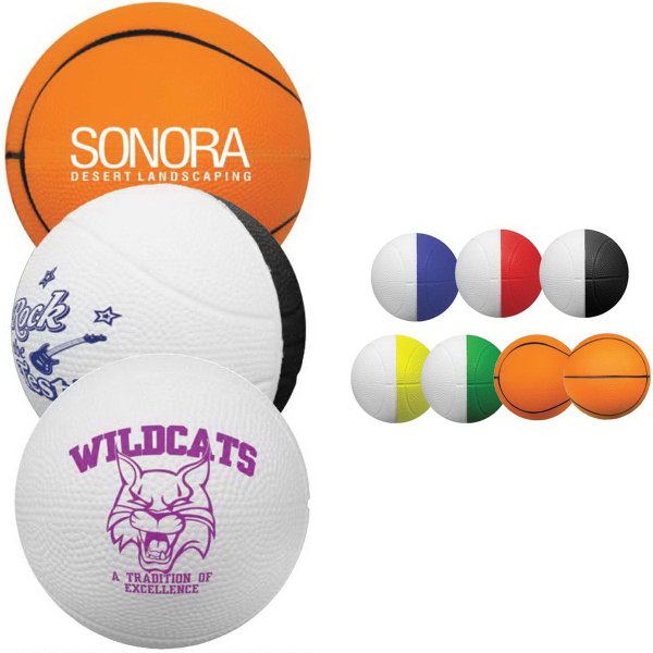 "Full Color 4"" Foam Basketball"