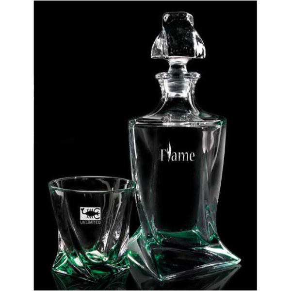 Emerald Quadro Decanter Set