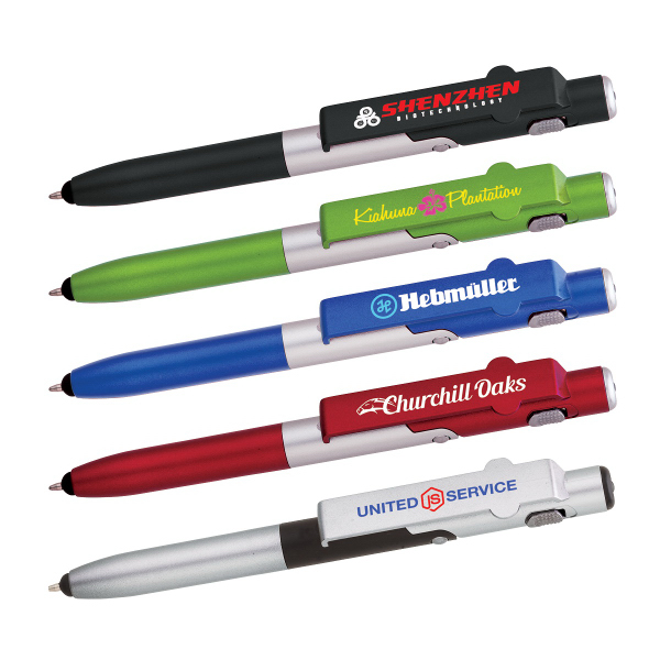 4-in-1 Ballpoint Pen / LED / Phone Stand / Stylus