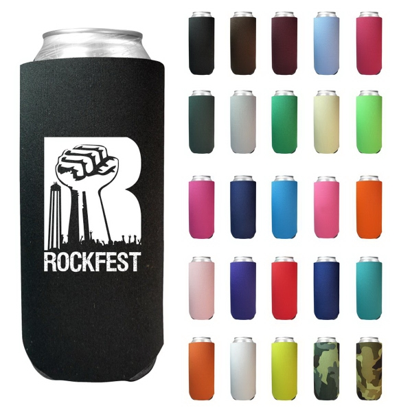 24 oz. Tall Boy Can Cooler (Screen Printed)