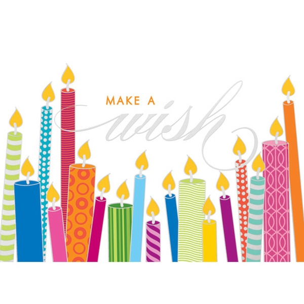 Candle Wishes Greeting Card
