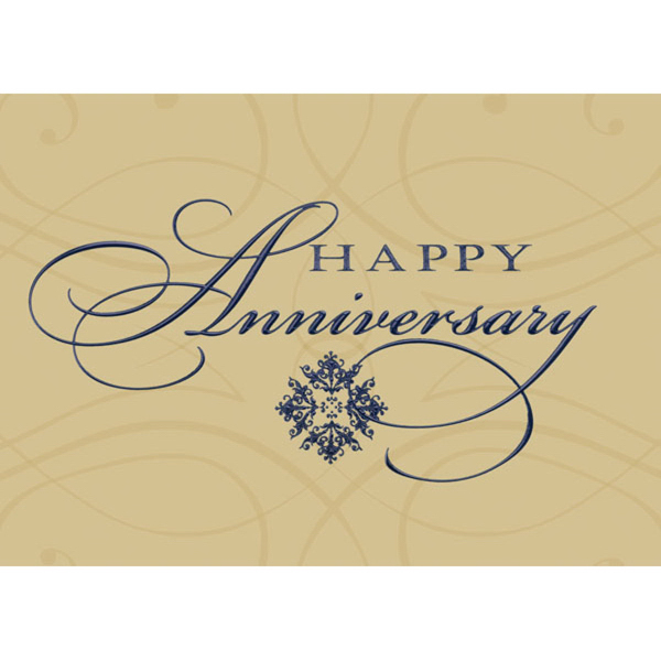Happy Anniversary in Black Greeting Card