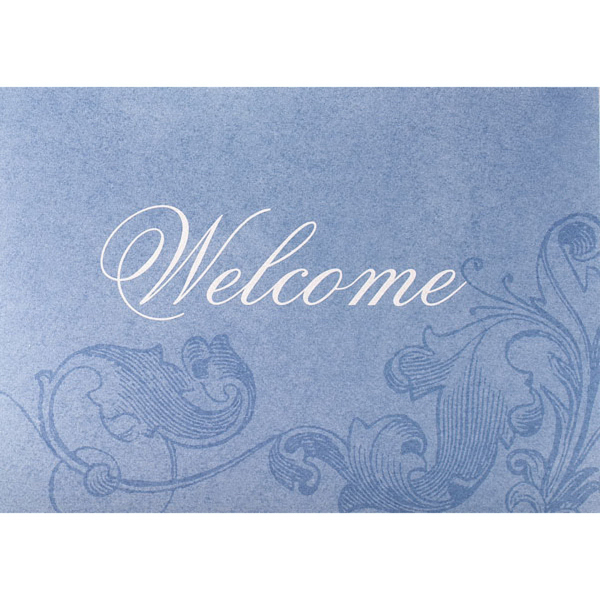 Iridescent Welcome Greeting Card