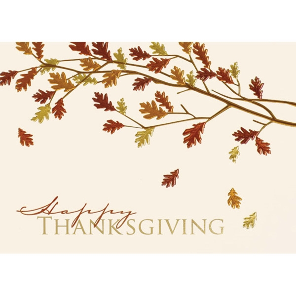 Embossed Thanksgiving Tree Greeting Card