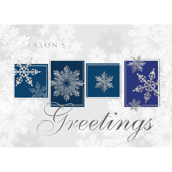Boxed Snowflakes Greeting Card
