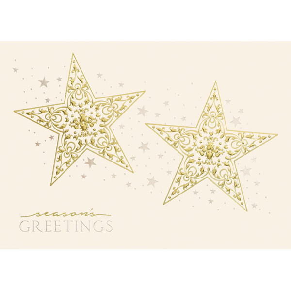 Intricate Gold Stars Greeting Card